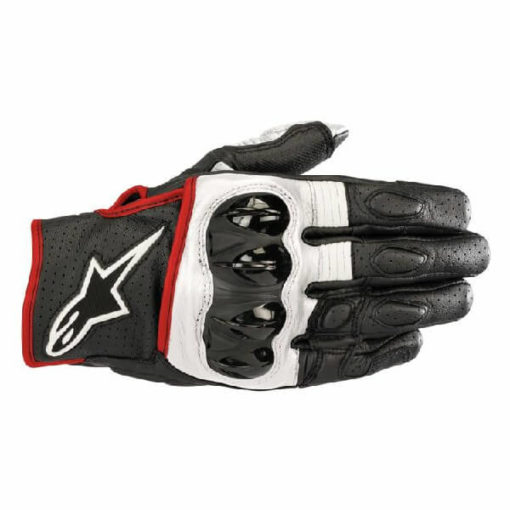 Alpinestars Celer V2 Black White Red Riding Gloves 2020