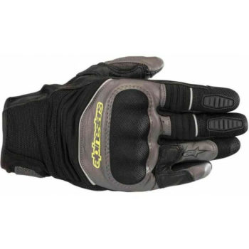 Alpinestars Crosser Air Touring Black Anthracite Fluorescent Yellow Riding Gloves 2020