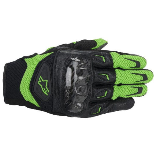 Alpinestars SMX 2 Air Carbon Green Riding Gloves 2020