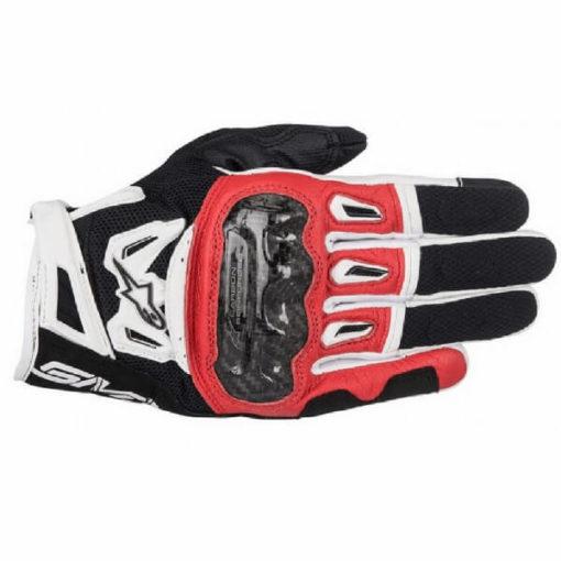 Alpinestars SMX 2 Air Carbon V2 Black Red White Riding Gloves 2020
