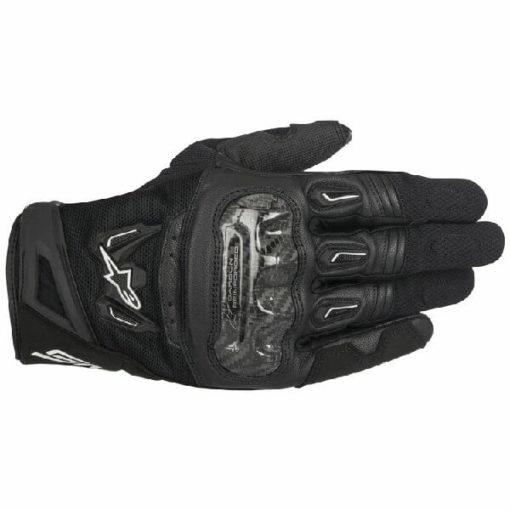 Alpinestars SMX 2 Air Carbon V2 Black Riding Gloves 2020