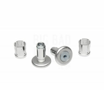 Barkbusters Bar End Grip Silver Protectors