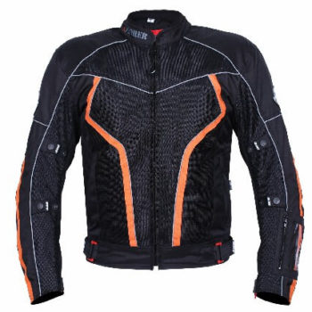 BBG xPlorer Black Orange Riding Jacket 2020 2