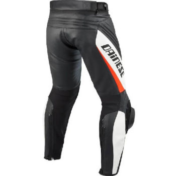Dainese Delta Pro Evo C2 Perforated Black White Leather Riding Pant 2020 1