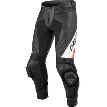 Dainese Delta Pro Evo C2 Perforated Black White Leather Riding Pant 2020