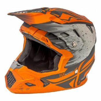 Fly Racing Toxin Resin MIPS Embargo Dirt Matt Khaki Orange Motocross Helmet