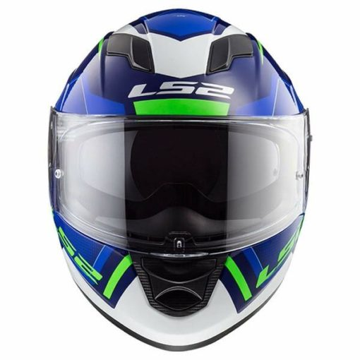 LS2 FF320 Stream Evo Axis Matt Blue White Full Face Helmet 1
