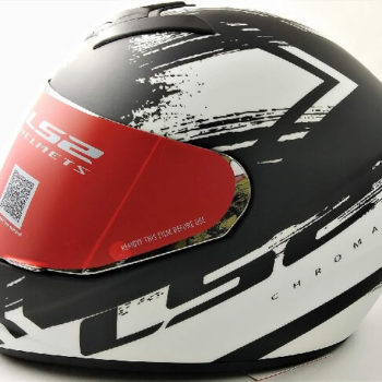 LS2 FF352 Chroma Matt Black White Full Face Helmet