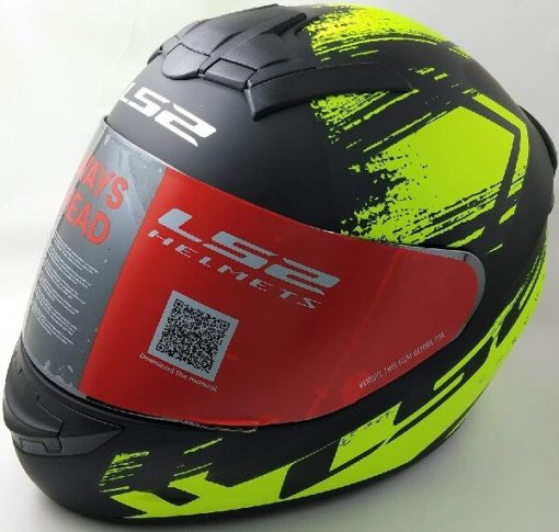LS2 FF352 Chroma Matt Black Yellow Full Face Helmet 2