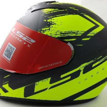 LS2 FF352 Chroma Matt Black Yellow Full Face Helmet