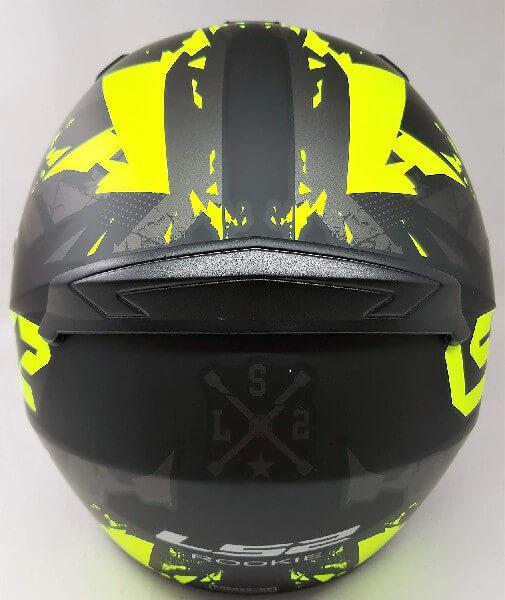 LS2 FF352 Palimnesis Matt Black Fluorescent Yellow Full Face Helmet 1