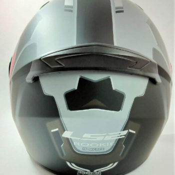 LS2 FF352 Rookie Iron Face Matt Black Grey Full Face Helmet 1