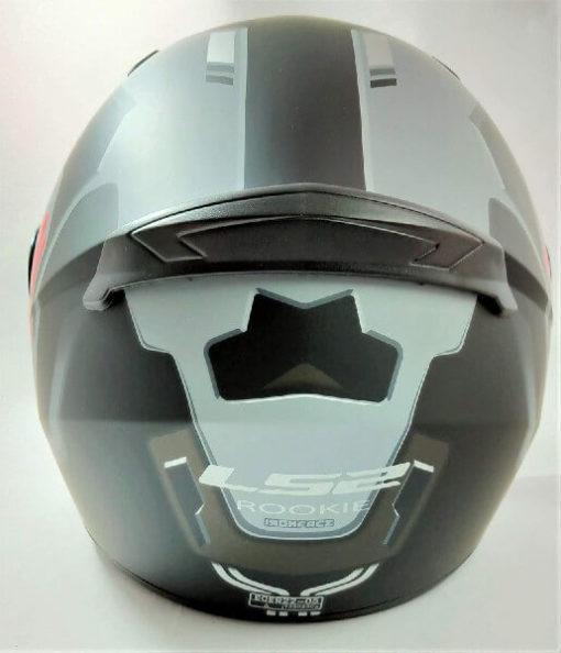 LS2 FF352 Rookie Iron Face Matt Black Grey Full Face Helmet 1
