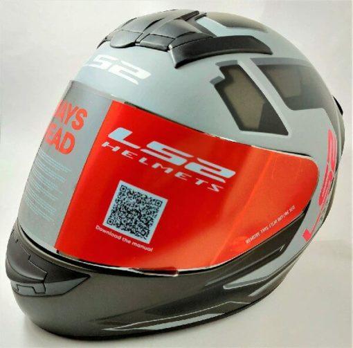 LS2 FF352 Rookie Iron Face Matt Black Grey Full Face Helmet 2