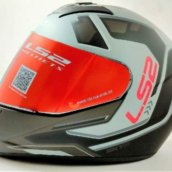 LS2 FF352 Rookie Iron Face Matt Black Grey Full Face Helmet