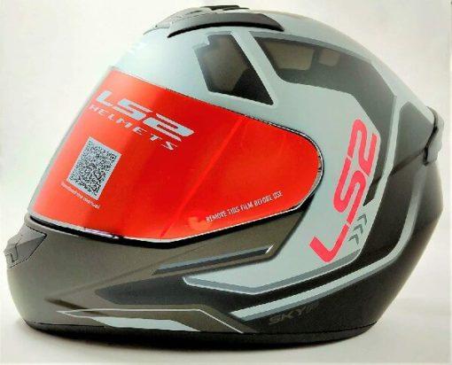 LS2 FF352 Rookie Iron Face Matt Black Grey Full Face Helmet