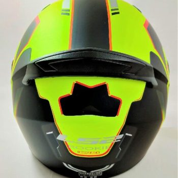 LS2 FF352 Rookie Iron Face Matt Black Yellow Full Face Helmet 1