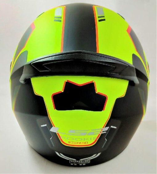 LS2 FF352 Rookie Iron Face Matt Black Yellow Full Face Helmet 1