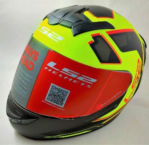 LS2 FF352 Rookie Iron Face Matt Black Yellow Full Face Helmet 2