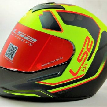LS2 FF352 Rookie Iron Face Matt Black Yellow Full Face Helmet
