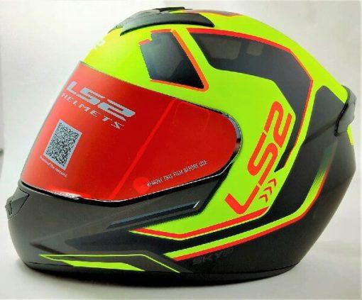 LS2 FF352 Rookie Iron Face Matt Black Yellow Full Face Helmet