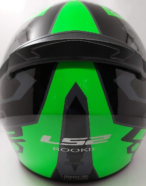 LS2 FF352 Rookie Mein Gloss Black Green Full Face Helmet 1