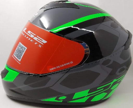 LS2 FF352 Rookie Mein Gloss Black Green Full Face Helmet