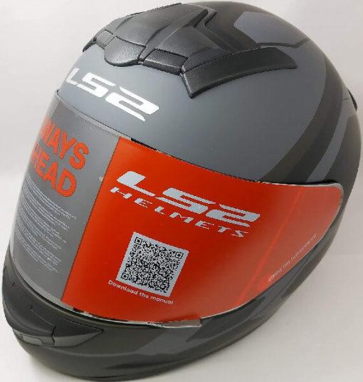 LS2 FF352 Rookie Mein Matt Black Grey Full Face Helmet 2