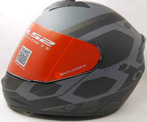 LS2 FF352 Rookie Mein Matt Black Grey Full Face Helmet