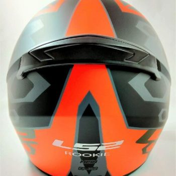 LS2 FF352 Rookie Mein Matt Black Orange Full Face Helmet 1