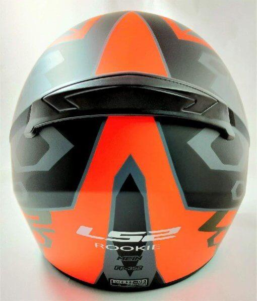 LS2 FF352 Rookie Mein Matt Black Orange Full Face Helmet 1
