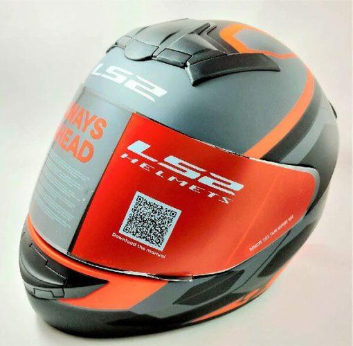LS2 FF352 Rookie Mein Matt Black Orange Full Face Helmet 2