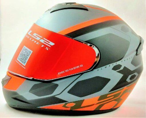 LS2 FF352 Rookie Mein Matt Black Orange Full Face Helmet