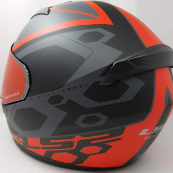 LS2 FF352 Rookie Mein Matt Black Red Full Face Helmet 1