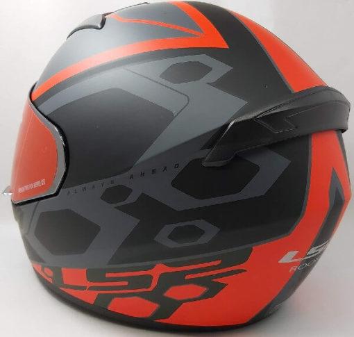 LS2 FF352 Rookie Mein Matt Black Red Full Face Helmet 1