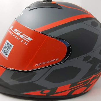 LS2 FF352 Rookie Mein Matt Black Red Full Face Helmet