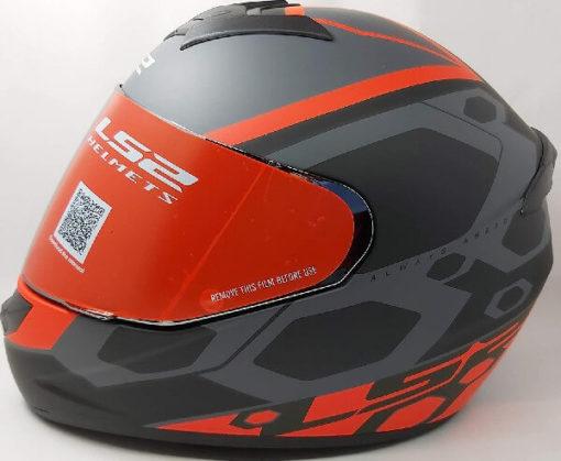 LS2 FF352 Rookie Mein Matt Black Red Full Face Helmet
