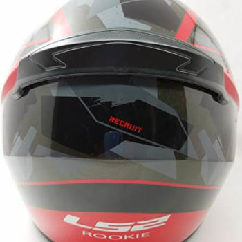 LS2 FF352 Rookie Recruit Gloss Black Red Full Face Helmet 1