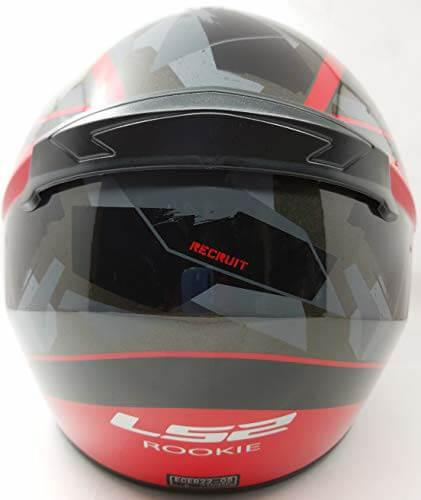 LS2 FF352 Rookie Recruit Gloss Black Red Full Face Helmet 1