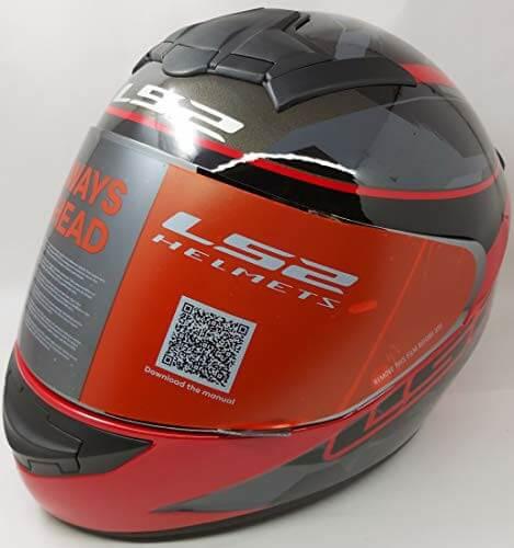 LS2 FF352 Rookie Recruit Gloss Black Red Full Face Helmet 2