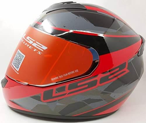 LS2 FF352 Rookie Recruit Gloss Black Red Full Face Helmet
