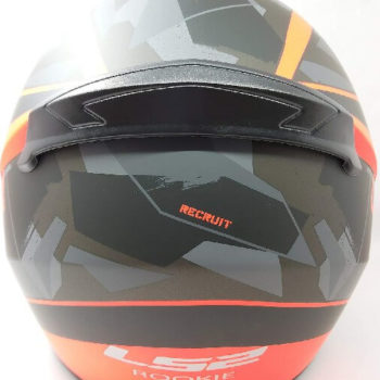 LS2 FF352 Rookie Recruit Matt Black Orange Full Face Helmet 1