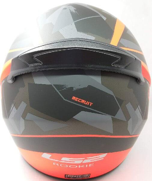LS2 FF352 Rookie Recruit Matt Black Orange Full Face Helmet 1