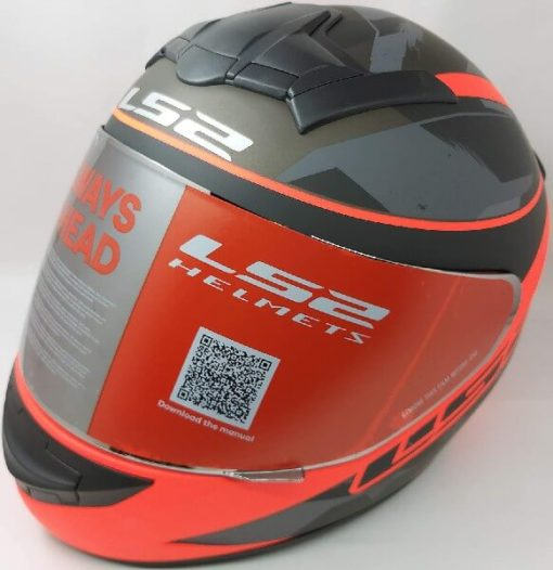 LS2 FF352 Rookie Recruit Matt Black Orange Full Face Helmet 2