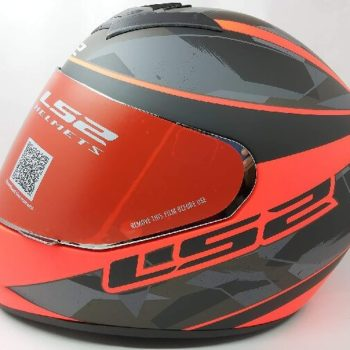 LS2 FF352 Rookie Recruit Matt Black Orange Full Face Helmet
