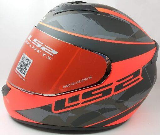 LS2 FF352 Rookie Recruit Matt Black Orange Full Face Helmet