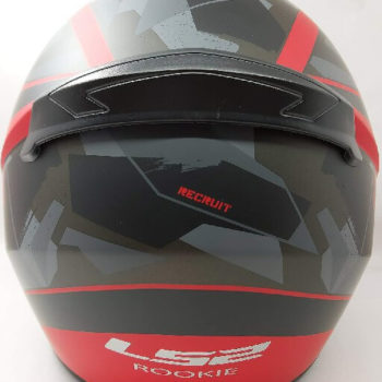 LS2 FF352 Rookie Recruit Matt Black Red Full Face Helmet 1