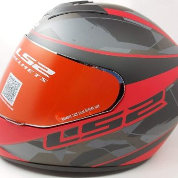 LS2 FF352 Rookie Recruit Matt Black Red Full Face Helmet