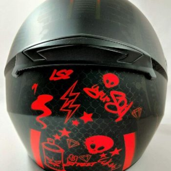 LS2 FF352 Rookie Street Matt Black Grey Full Face Helmet 1