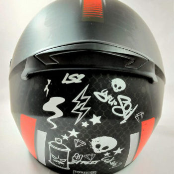 LS2 FF352 Rookie Street Matt Black Red Full Face Helmet 1